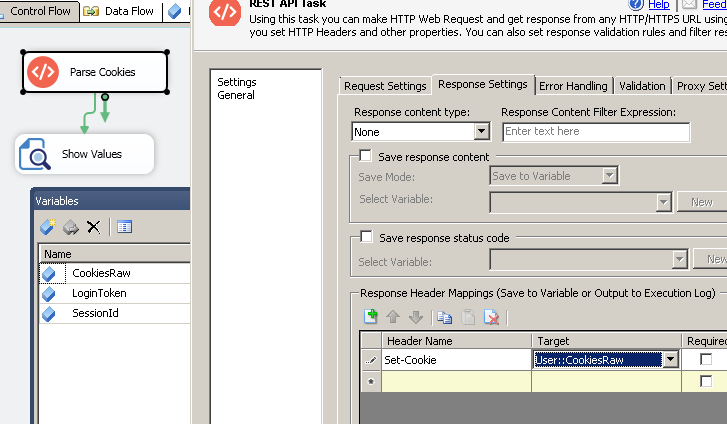 Working with HTTP Cookies in SSIS | ZappySys Blog