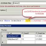 SSIS MongoDB Source - MongoDB SQL Query - Filter by date (Query ISODate)