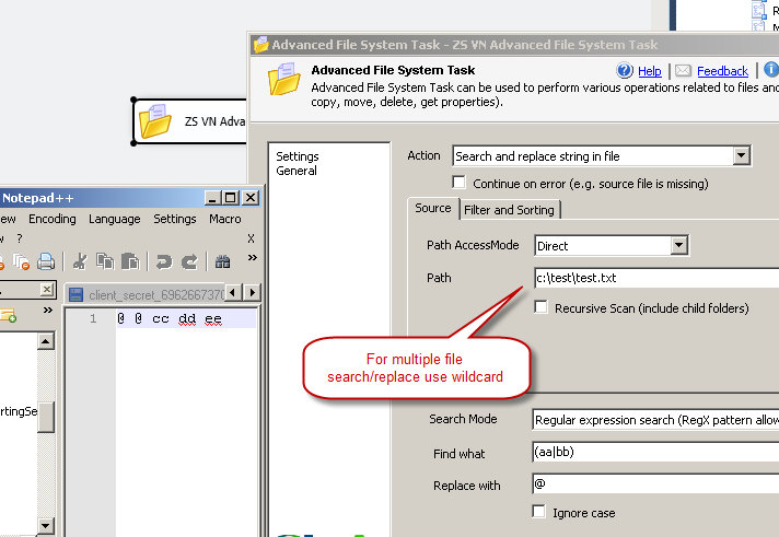 Search and replace in files using SSIS - No Coding | ZappySys Blog