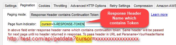 Pass Response Header value to URL (Cursor)