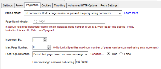 SSIS API Pagination - Detect last page by error / response string search