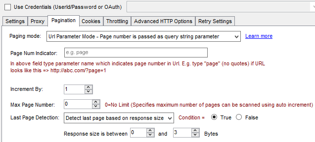 SSIS API Pagination - Detect last page by response size