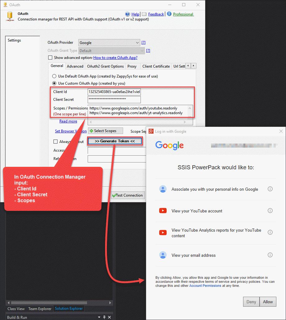 Connect to Google API using OAuth 2.0 (Youtube API Example)