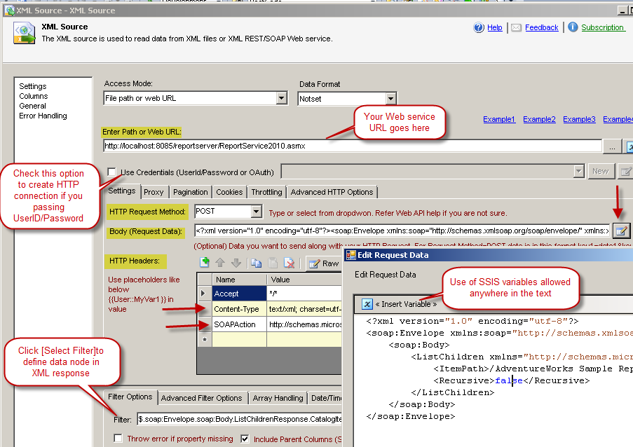 Calling SOAP Web Service in SSIS (XML Source) | ZappySys Blog