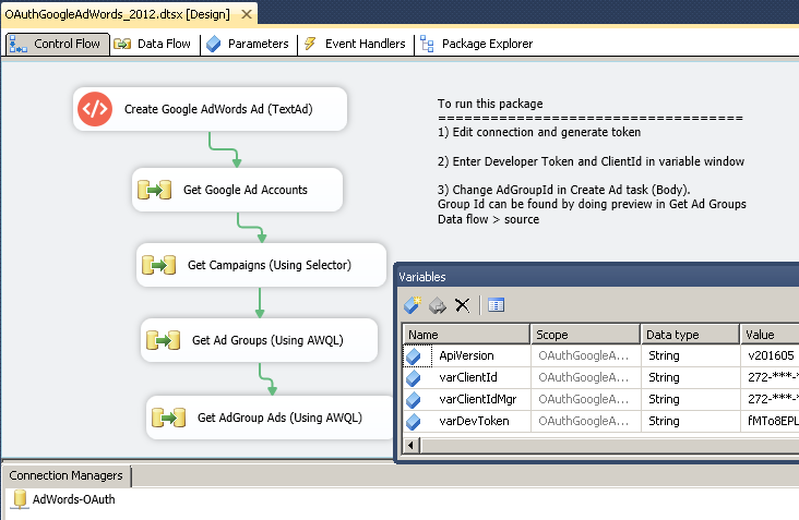 How to get data from Google AdWords using SSIS | ZappySys Blog
