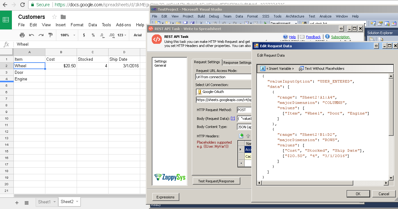 How to read / write Google SpreadSheet using SSIS | ZappySys Blog