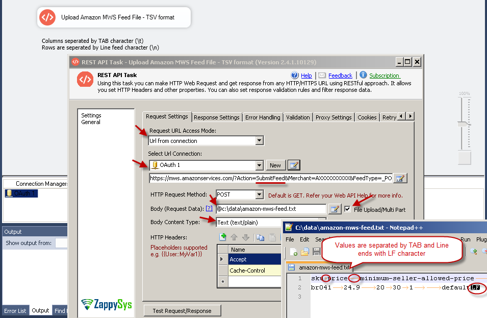How to call Amazon MWS API using SSIS   ZappySys Blog