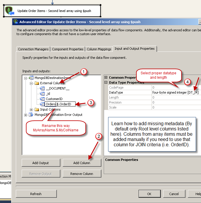 Update MongoDB Array Items using SSIS | ZappySys Blog