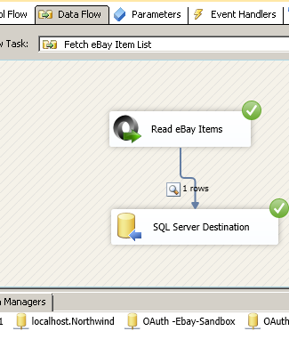 Load eBay data into SQL Server - Call  eBay REST API using SSIS JSON Source