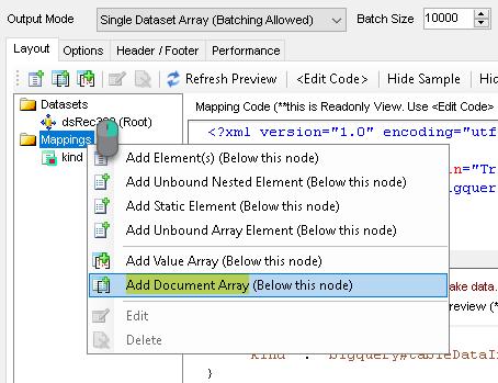 JSON Generator - Add Document Array