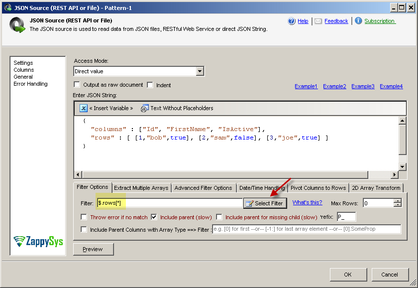 Parse JSON array in SSIS or ODBC Drivers | ZappySys Blog