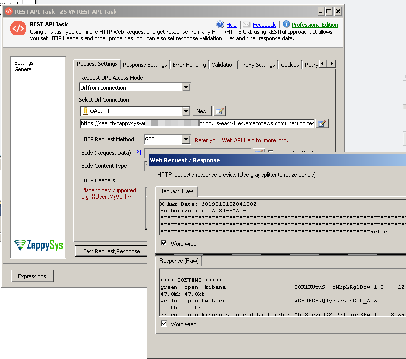 How to call Elasticsearch API using SSIS | ZappySys Blog