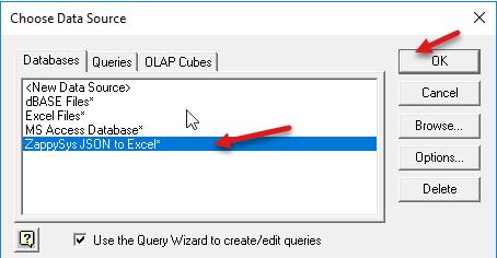 Select zappysys data source