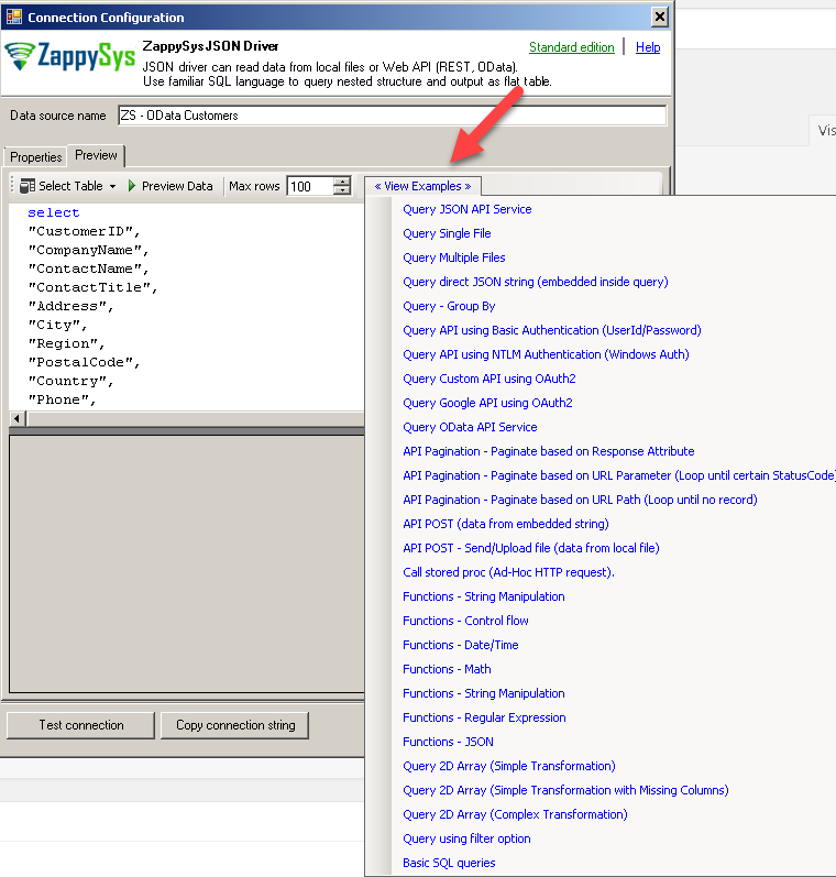 ZappySys JSON / REST Driver - Query Examples for PowerShell