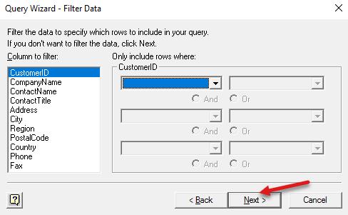 filter json data in excel