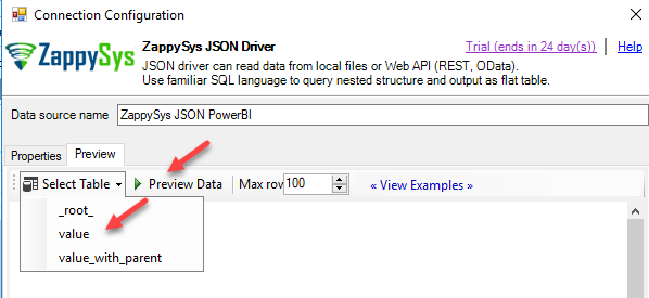 create json query