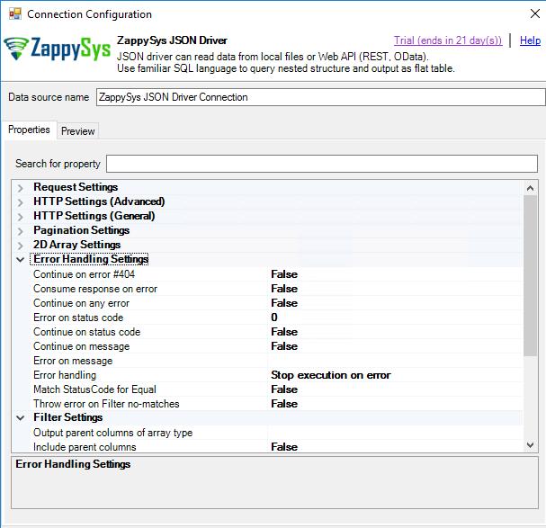 SSRS - REST API Error Handling Options