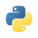 The logo of Python