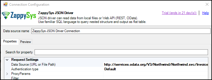 ODBC connection to REST API
