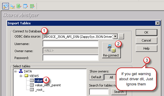 Select JSON Source Table in Informatica Mapping Designer (JSON file or REST API)