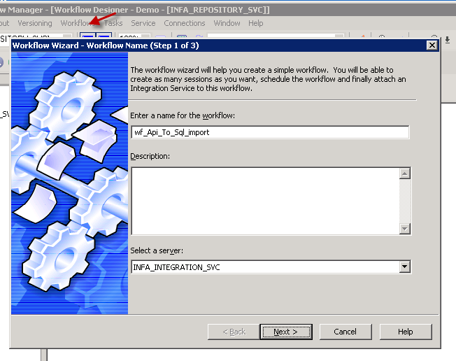 Creating Informatica Workflow - Wizard UI (Import JSON data to SQL Table)