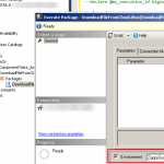Set SSIS Environment for Package Execution - SSMS UI