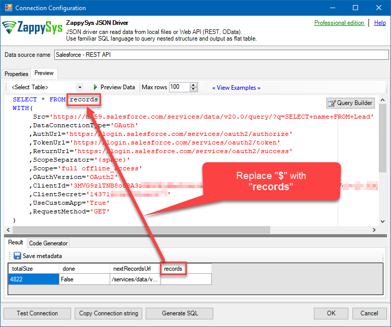 How to call Salesforce REST API via ODBC driver | ZappySys Blog