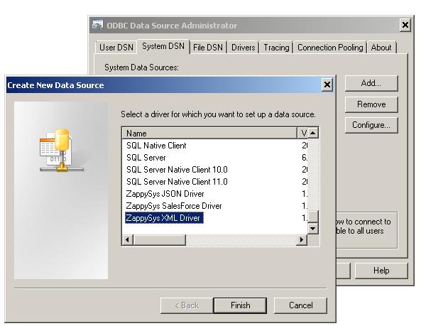 ZappySys ODBC Driver for XML / SOAP API
