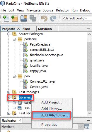 Add library in NetBeans