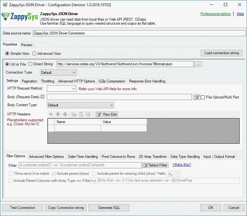 URL for OData REST API