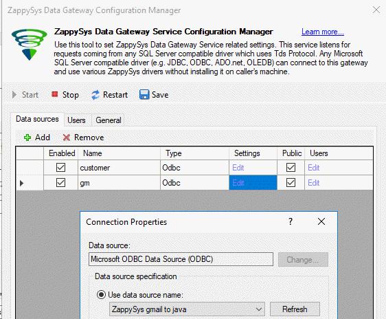 Add ODBC to the ZappySys gateway