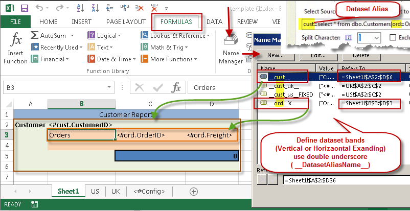 Custom Template Support for Excel Report Generation