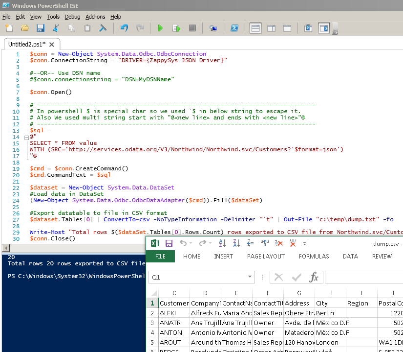 Example : Call REST API in PowerShell and Export JSON data to CSV File