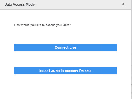 Connect in MicroStrategy live or in-memory dataset