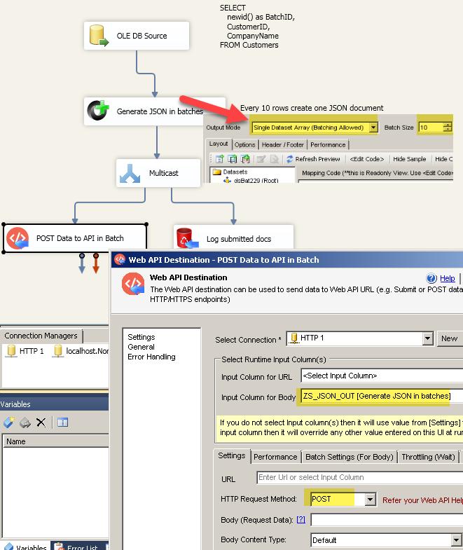 POST data to REST API in Bulk Mode (Batch multiple rows)