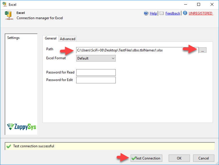 Select Excel File For Connection