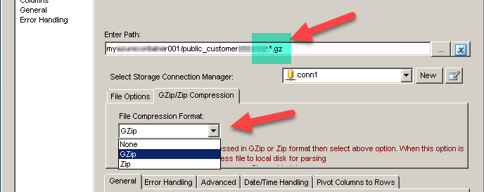 Reading zip and gzip compressed files (stream mode)
