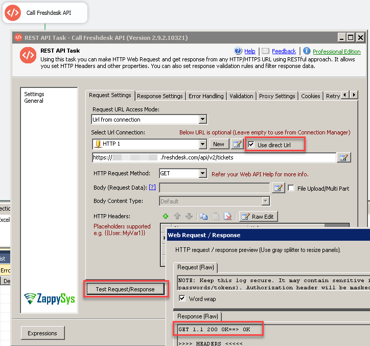 Calling Freshdesk REST API in SSIS ( Read Tickets example)