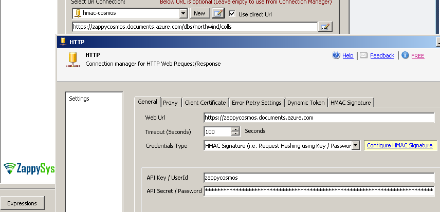 Using HMAC Authentication for API in SSIS / ODBC Drivers | ZappySys Blog