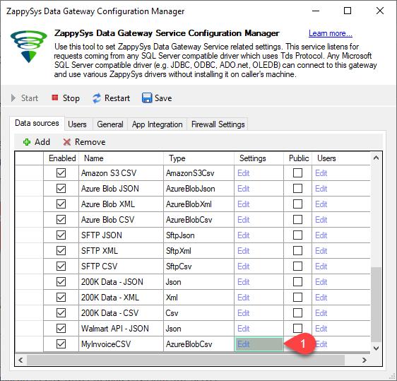 Configure Data Gateway
