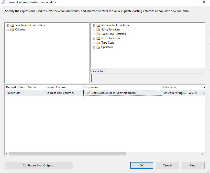 Path to store Gmail Attachment in SSIS