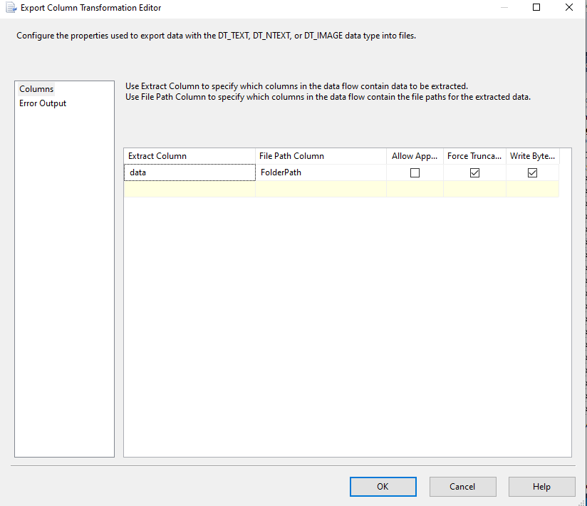 SSIS Gmail export attachment