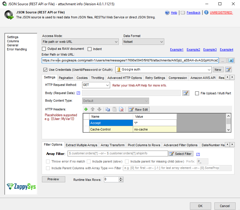 SSIS task to connect to Gmail