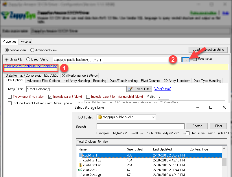 Browse File(s) - Azure Blob File Selection