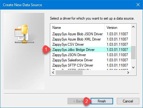 ZappySys ODBC Driver - Create JDBC Bridge Driver