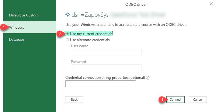 ZappySys ODBC Driver - Create Credentials