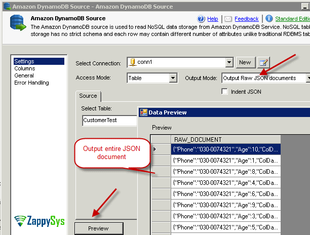 How to Read / Write Amazon DynamoDB in SSIS | ZappySys Blog