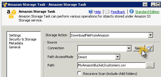 SSIS Amazon S3 Task - Download Files to Local Disk