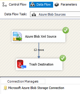 ssis azure blob source for xml file zappysys