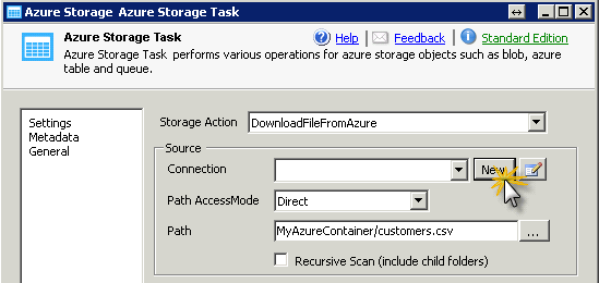 configure-ssis-azure-storae-task